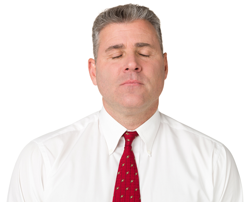 Calm Man With Eyes Closed